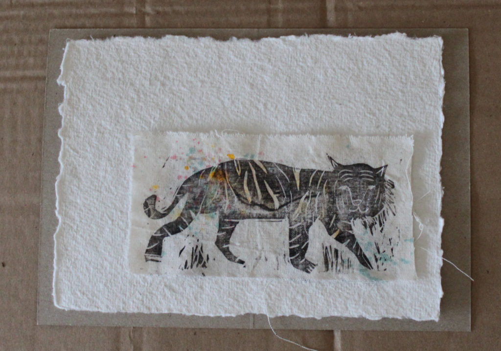 MOTIV *tiger aquarell* // AUFbügler